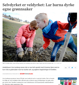 Lise Lemberg på Dysterjordet andelslandbruk
